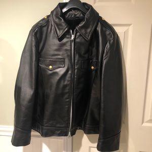 Vintage Skaggerac Sportswear Leather Police Jacket